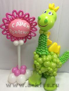 Dinosaur Balloons, Balloon Hat, Balloon Animals, Balloon Arch, Animal Balloons, Balloon Ideas, Balloon Arrangements, Balloon Centerpieces, Balloon Decorations Party