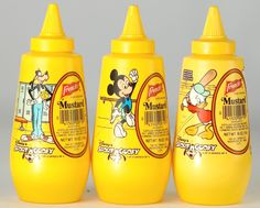 Remember these French's mustard bottles? From the National Mustard Museum! #Frenchs #vintage #retro #yellowmustard #throwbackthursday