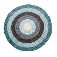 sebra Häkel-Teppich rund pastell blau