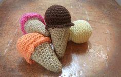 Mini Ice Cream Cones - free crochet pattern