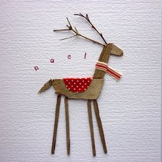 Reindeer card - Kirsty Elson Designs x Noel Christmas, All Things Christmas, Handmade Christmas, Christmas Ornaments, Simple Christmas, Holiday Crafts, Holiday Fun, Festive, Theme Noel