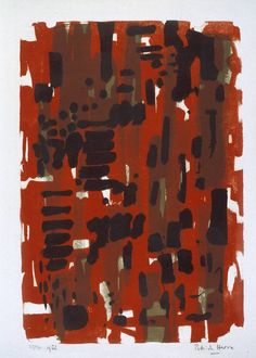 Patrick Heron: Red Garden 1956 - thought to be one of PH's earliest prints