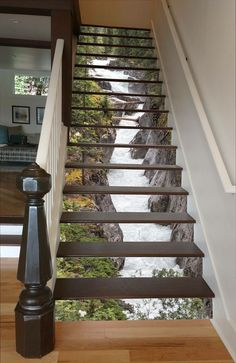 such a cool idea! put a picture on the stair spaces.