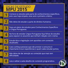 Dicas para Estudar para o Concurso do Ministério Público da União - MPU / 2015...