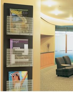 Manage the Mess – Nest is a stylish way to manage the unsightly pile of reading material that seems to be part of every waiting room. Nest can be used lots of ways, in lots of places. Use outside an office or classroom as a drop-off for mail or files. Or use for charts outside the patient room.
