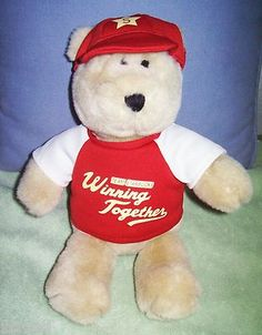 Starbucks Bearista Bear Leadership Conference 2004 Limited Edition Winning Together Red cap and t-shirt  $28.07 on sale