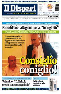 La copertina del 11 luglio 2015 #ischia #ildispari