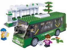 Transporte Estação de Ônibus 372 Peças - BanBao