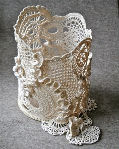 free-form crochet by Marianne S.. very stylish and elegant.. she's a great free-form crocheter!
