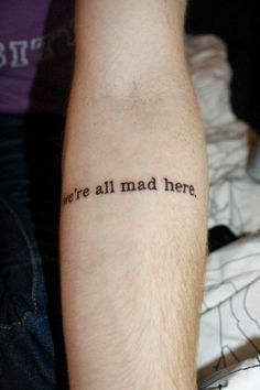 contrariwise literary tattoos  alice in wonderland
