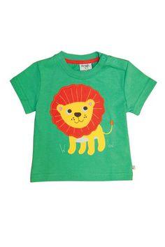 Frugi - Organic Cotton - Beach Applique T-shirt - Field/Lion (sizes 6m to 3yrs) - Baby Gift Works  - 1