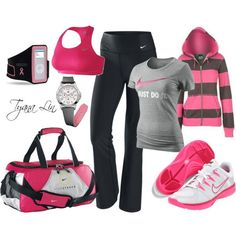 Cut workout gear #pink