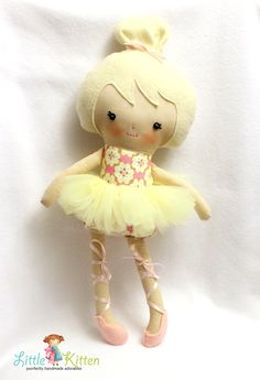Ballerina Doll Plush Olivia Made To Order by ShopLittleKitten. For briana