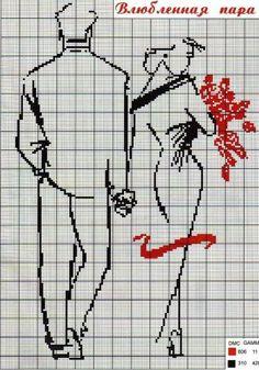 Влюбленная пара | biser.info - всё о бисере и бисерном творчестве