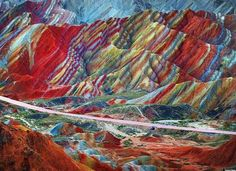 Aladaglar is a chain of colorful hills near north western city of Tabriz. The naturally-hued hills are in Copper Red, tallow, and green.