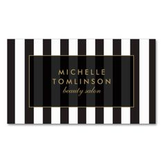 Black and White Stripes Salon III Business Card. Make your own business card with this great design. All you need is to add your info to this template. Click the image to try it out!