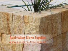 Aussietecture natural stone supplier has a unique range natural stone products for walling, flooring & landscaping. Sandstone Cladding, Sandstone Wall, Sandstone Paving, Natural Stone Wall, Natural Stones, Landscape Design, Garden Design, House Design, Stone Supplier