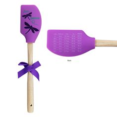 Just Believe Dragonfly Spatula - has measurement conversion chart on the reverse side! I need this!