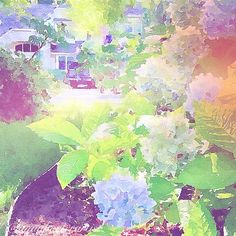 Summer in My Garden, a new digital painting by Anna Porter in Waterlogue on an iPhone5, copyright 2014 @annaporterartist. Order prints online in my Fine Art America Gallery!