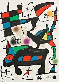 Oda a Joan Miro de Joan Miro litografia certificada por el editor obra grafica original