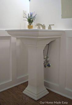 Kohler Tresham Pedestal Sink.Powder Room Kohler K 2844 1 0 Tresham 24 Pedestal