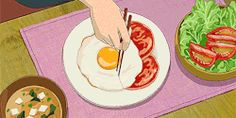 A perfect cut. 40 Of The Most Oddly Satisfying Studio Ghibli Gifs Aesthetic Food, Aesthetic Anime, Wallpaper Studio, Main Manga, When Marnie Was There, Studio Ghibli Art, Ghibli Movies, Old Anime, Oddly Satisfying