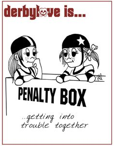 Getting into trouble together | derbylove roller derby comics