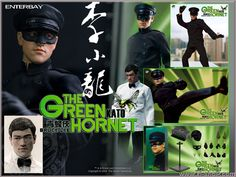 Enterbay's 1/6 scale Bruce Lee as Kato in The Green Hornet multi-pose figure