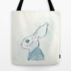 Rabbit in a suit Tote Bag by emdesigns Rabbit, Reusable Tote Bags, Suits, Stuff To Buy, Rabbits, Outfits, Suit, Bunny, Men's Suits