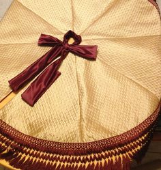 Silk Christmas Tree Skirt Burgundy and Gold by refinedconcepts, $125.00