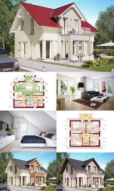einfamilienhaus satteldach grundriss offen modern haus edition 1 v7 bien zenker fertighaus bauen offene - Fertighausplne