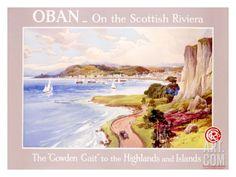 Caledonian Railway Travel to Oban Scotland Giclee Print at Art.com