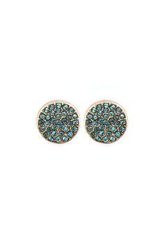 Crystal Dotti Earrings in Blue Azure//