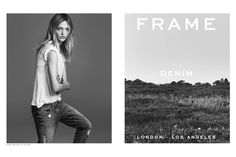 Following up her appearance in Balenciaga's spring advertisements, Sasha Pivovarova lends her notable looks to the spring-summer 2015 campaign from Frame Denim. The jeans brand tapped Sasha for an all black and white shoot photographed by Erik Torstensson. According to WWD, the images were styled by George Cortina with hair by Didier Malige and makeup by Jeanine Lobell. Frame's ...