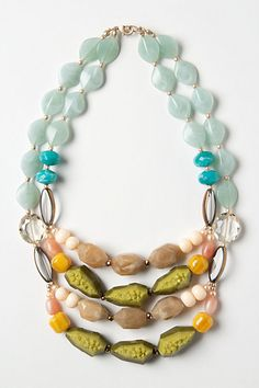 Gem layer necklace. Quite a work of art!