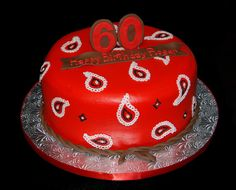 Bandana print western themed 60th birthday cake by Simply Sweets, via Flickr