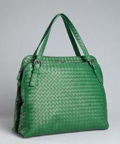 Green with envy for this Bottega Veneta bag Love Bottega Bags. This green one is very nice!