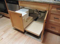 Trendy Kitchen Storage Shelves Under Sink Ideas Kitchen Storage Solutions, Diy Kitchen Storage, Kitchen Drawers, Storage Cabinets, Kitchen Organization, Kitchen Cabinets, Bathroom Cabinets, Bathroom Storage, Kitchen Garbage Can Storage
