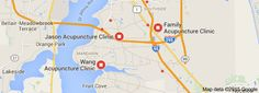 Map of acupuncture near me Jason Orange, Orange Park, Acupuncture, Clinic, Map, Location Map, Maps