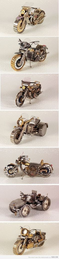 not exactly steam punk but still cool- Some  Bikes Mаdе Оut Оf Оld Watches