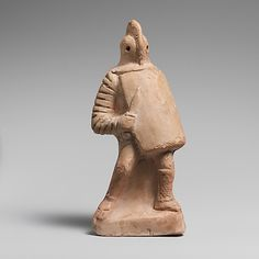 Terracotta statuette of a gladiator,imperial period.1st-2nd century BC,Roman