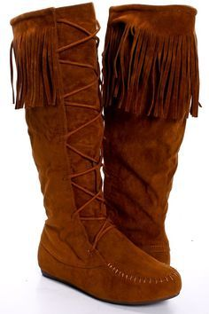 Custom Upcycled Embellished Vintage Moccasin Fringe Boots ...