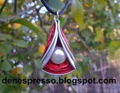 collar triangulo nespresso capsulas recicladas bisuteria