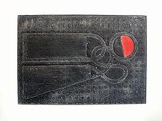 Vicente Rojo, 'Aforismo A', 2009. Colagrafía. México
