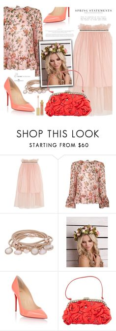 """""""Spring florals"""" by jan31 ❤ liked on Polyvore featuring Mother of Pearl, Topshop, Marjana von Berlepsch, Christian Louboutin, Valentino, TIBI, Folio and AERIN"""