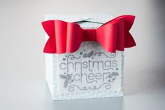 The Gift Bow die is a perfect companion to the Gift Box Punch Board for making customized gift packaging!