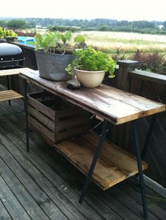 Use galvanized strapping and screws to hold the boards to the ikea legs.