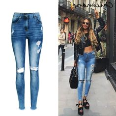 26.90$ Buy here - https://alitems.com/g/1e8d114494b01f4c715516525dc3e8/?i=5&ulp=https%3A%2F%2Fwww.aliexpress.com%2Fitem%2FChicanary-Wedgie-Icon-Raw-Hem-High-Rise-Knee-Distressed-Skinny-Jeans-Women-Denim-Ripped-Holes-Pants%2F32781329043.html - Chicanary Wedgie Icon Raw Hem High Rise Knee Distressed Skinny Jeans Women Denim Ripped Holes Pants 26.90$