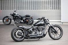 Chopper con partes de Harley Davidson