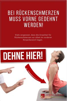 Here you have to stretch in back pain! - Many forget that the causes of their back pain are mainly in the overstretched muscles and fascia i - Cardio Workout At Home, Workout Schedule, Fun Workouts, At Home Workouts, Pilates Workout Routine, Hiit, Fitness Herausforderungen, Fitness Motivation, Cardio Training Zu Hause